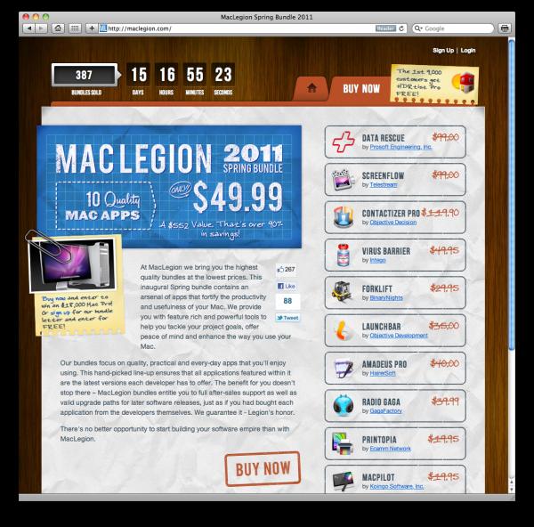 Screenshot do MacLegion