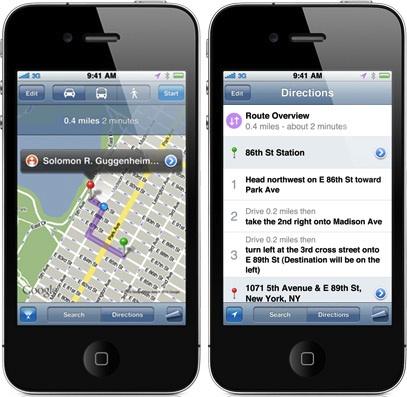 Maps no iOS