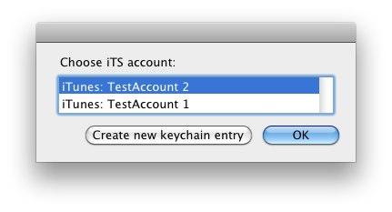 AppleScript de contas do iTunes