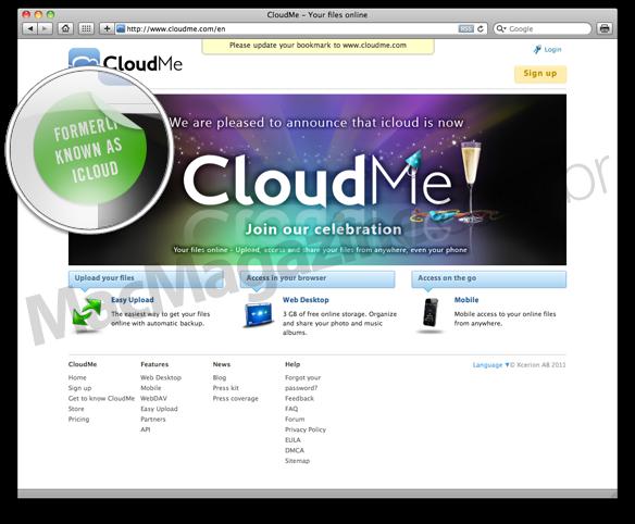 iCloud vira CloudMe