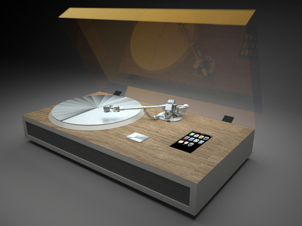 Conceito de turntable para iPhone