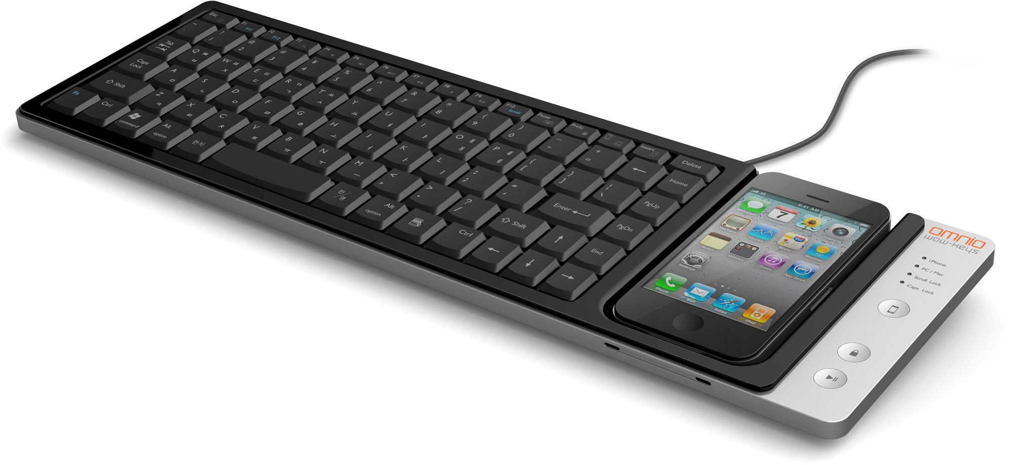 Teclado WOW-Keys com iPhone