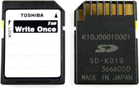 SD de gravação única da Toshiba