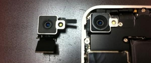 Comparação de câmeras do iPhone branco e preto