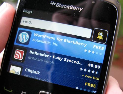 Apps no BlackBerry
