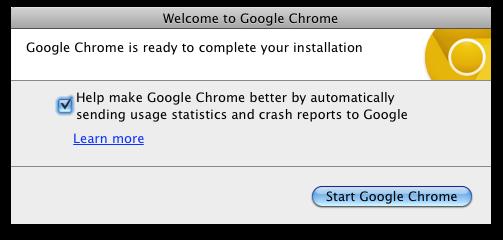 Google Chrome Canary - Mac OS X