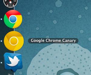 Ícone amarelo do Google Chrome Canary
