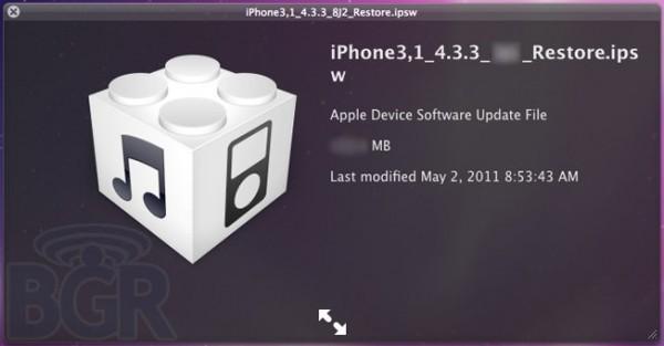 Quick Look do iOS 4.3.3