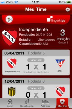 Copa Libertadores - iPhone