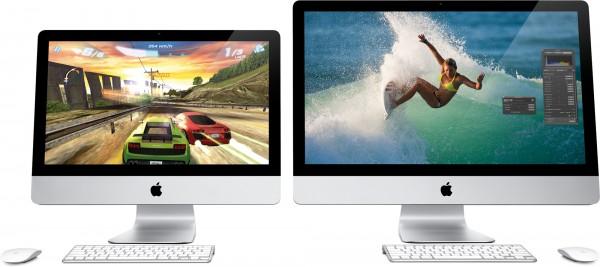 Novos iMacs de frente