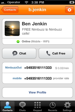 Nimbuzz 2.2 - iPhone