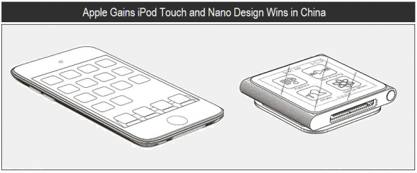 Designs dos iPods touch 4G e nano 6G