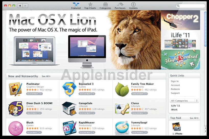 Mac OS X Lion na Mac App Store