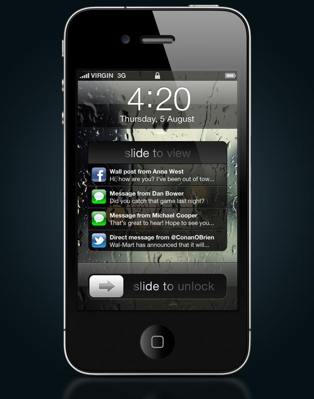 Conceito de notificações pro iOS