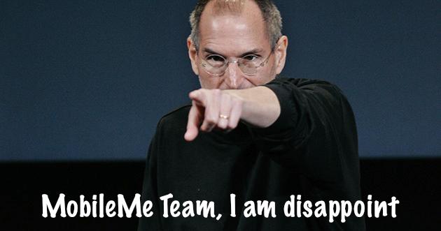 Steve Jobs com raiva da equipe do MobileMe