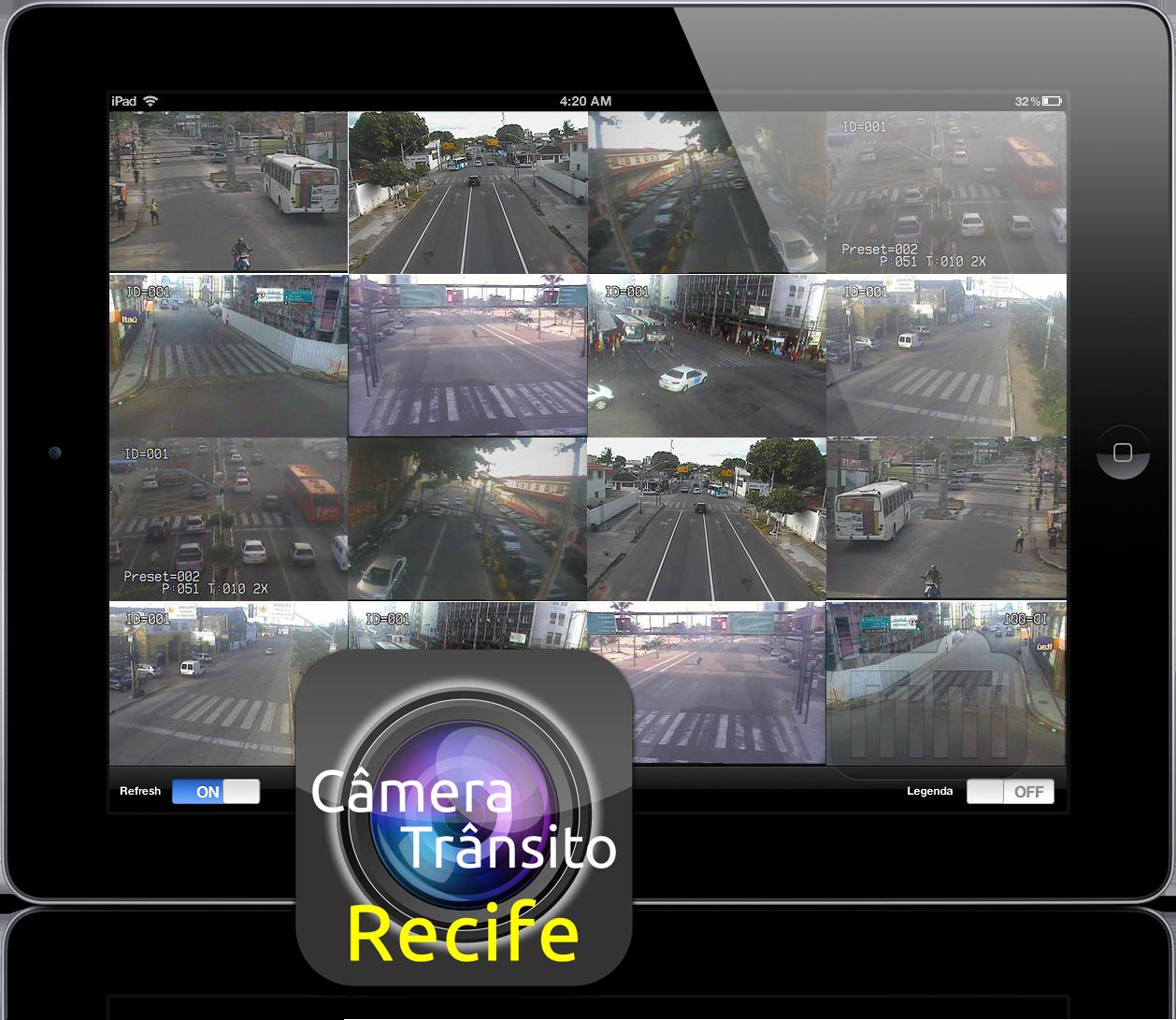 Câmera Trânsito Recife no iPad