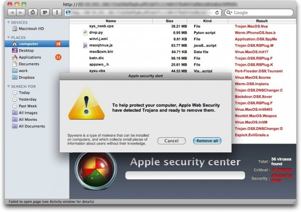 Malware - Antivírus falso para Mac OS X