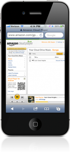 Amazon Cloud Player no iPhone