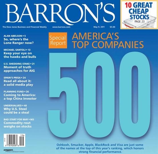 Lista Barron's 500 de 2011