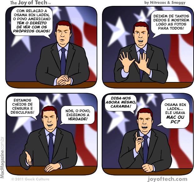 Joy of Tech - A verdade sobre Osama
