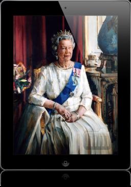 Rainha Elizabeth II e iPad
