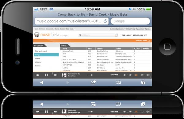 Google Music Beta no iPhone