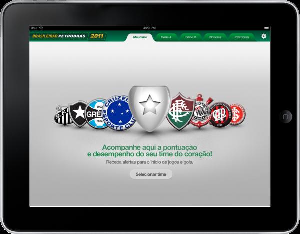 Brasileirão Petrobras no iPad