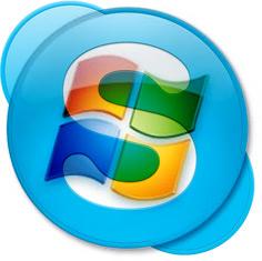 Ícones de Microsoft e Skype juntos