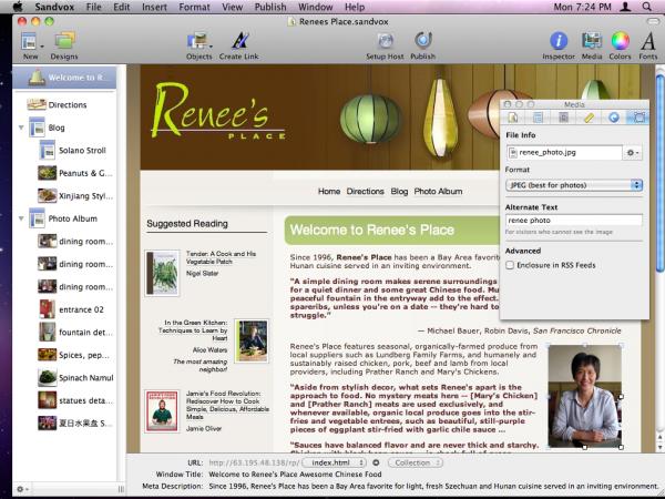 Sandvox no Mac OS X - Karelia