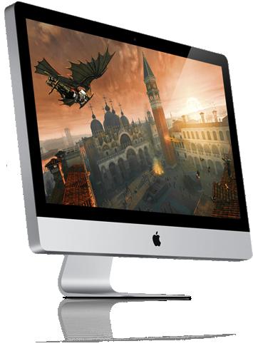 iMac rodando jogo