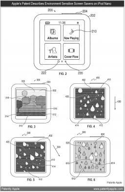Proteção de tela dinâmica no iPod nano
