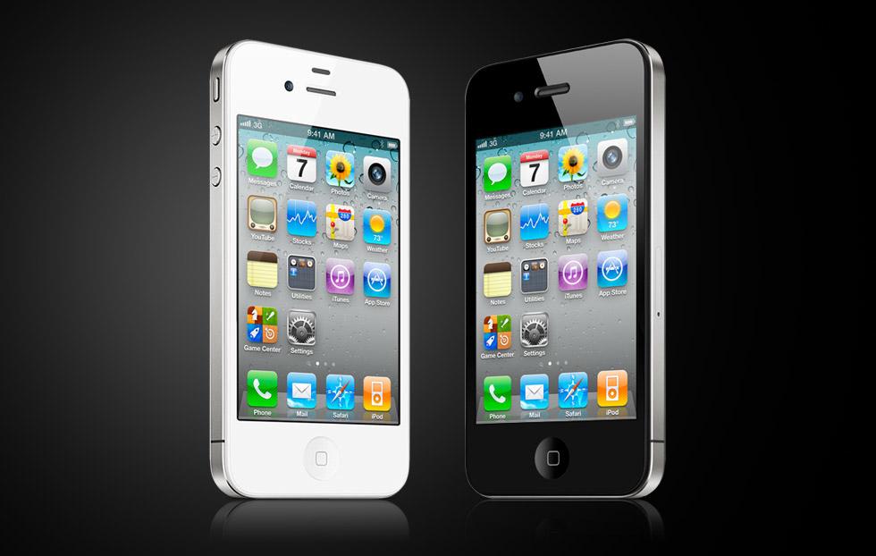 iPhones 4 branco e preto