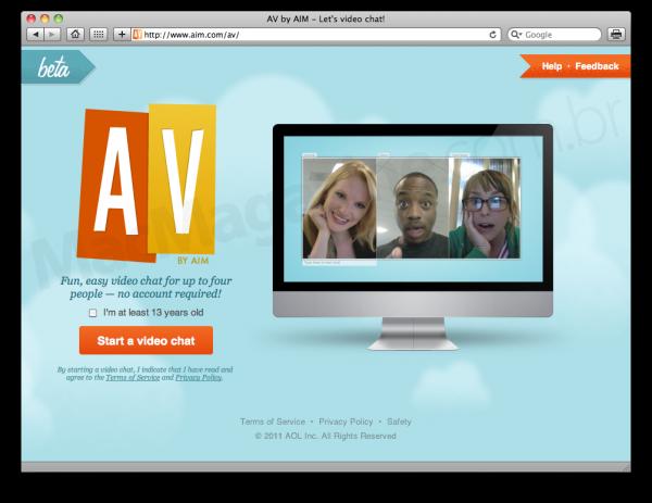AIM AV no Safari