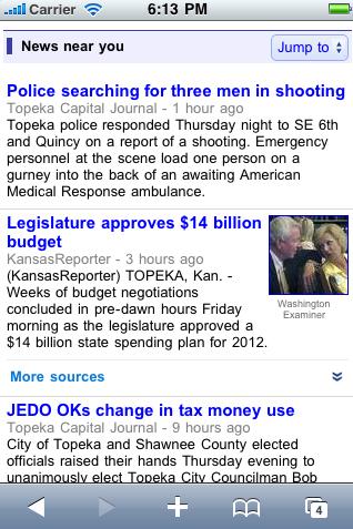 News near me - Google News for mobile