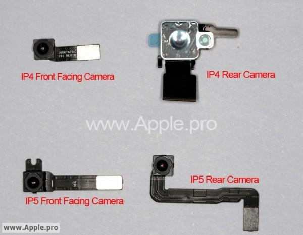 Supostas câmeras do iPhone 5