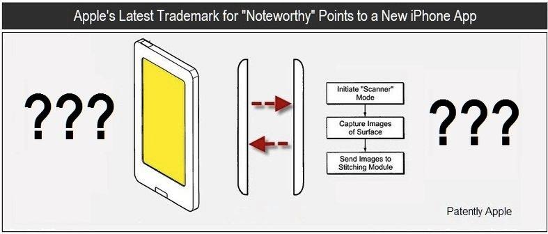 Patente da Apple de scanner para iOS