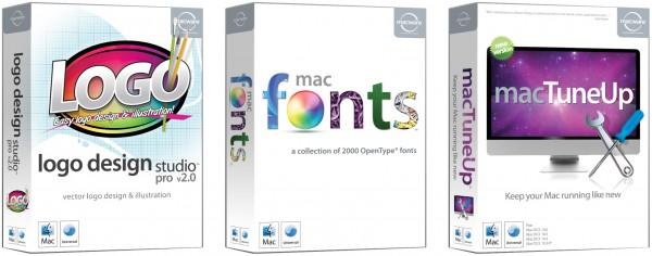 Caixas de produtos da Macware