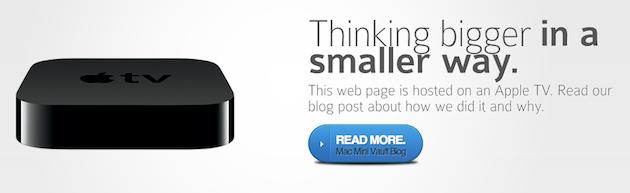 Página hospedada em Apple TV - Mac Mini Vault