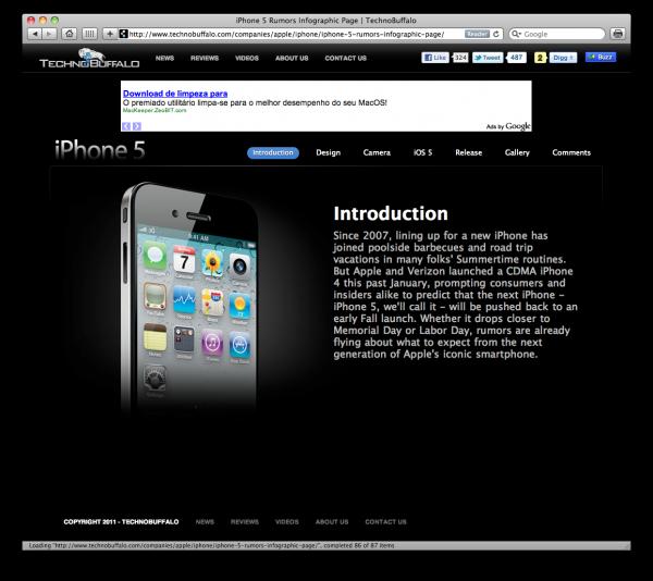 Infográfico sobre o iPhone 5