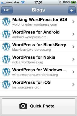 WordPress 2.8 - iPhone
