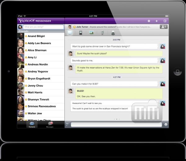 Yahoo! Messenger - iPad