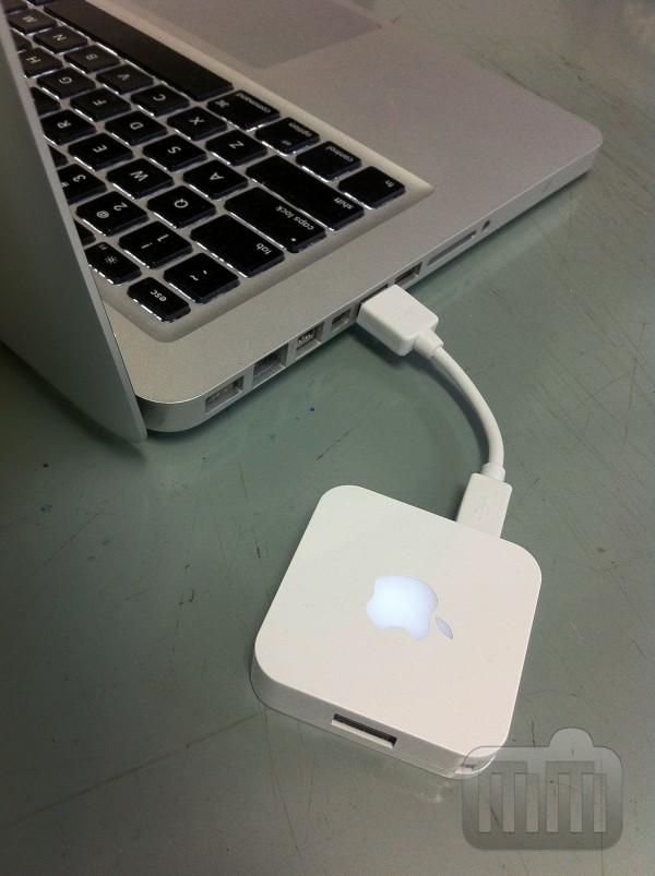 iHub conectado a MacBook Pro