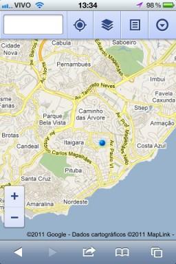 Google Maps no Mobile Safari do iOS