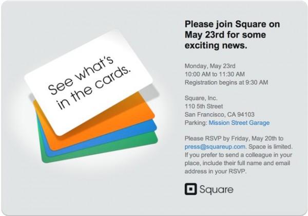 Convite para evento da Square