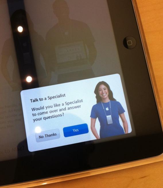 Chamando assistente pelo iPad - Apple Store 2.0