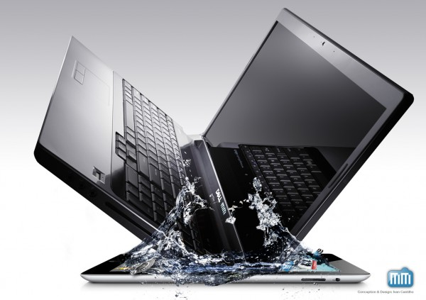 Notebook Dell mergulhando em iPad - Mac Society