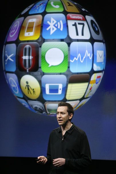 Scott Forstall em keynote da Apple