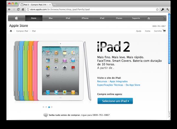 iPad 2 na Apple Online Store