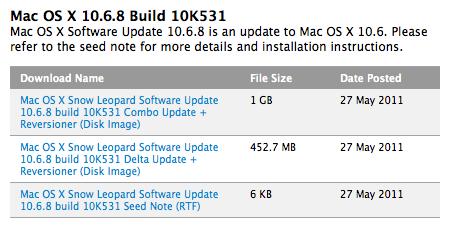 Build 10K531 do Mac OS X 10.6.8