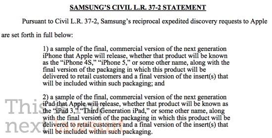 Samsung pede para ver iPhone 5 e iPad 3